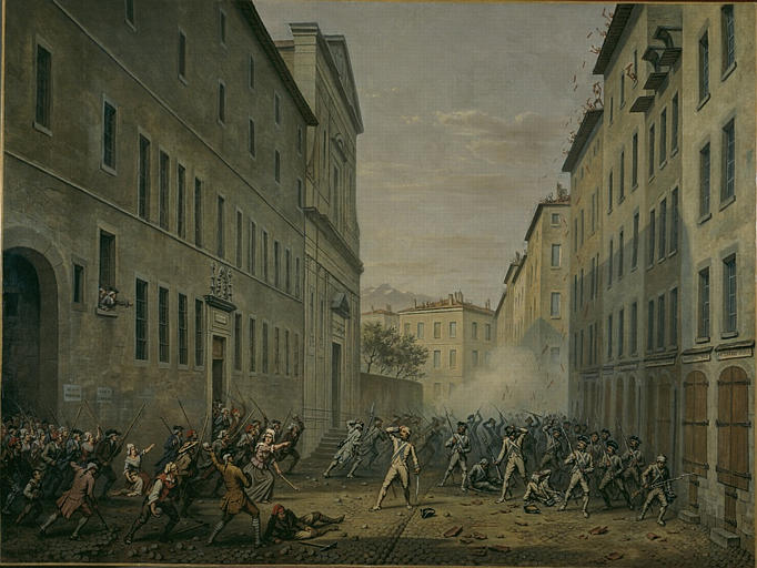 7 juin 1788, la Journée des Tuiles à Grenoble M0994010