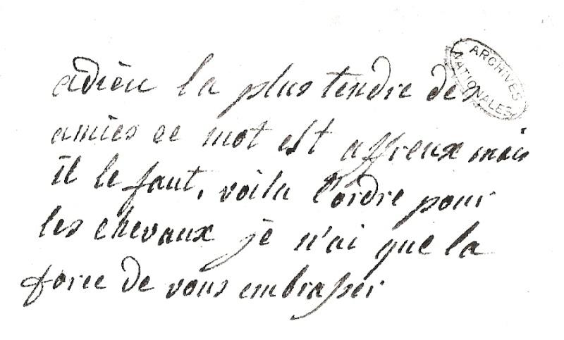 Mot de Marie Antoinette à sa femme de chambre. 19 avril 1770 Numari10