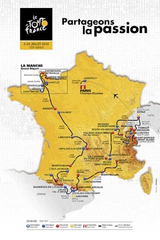 Tour de France 2016 : Toutes les infos à retenir Map_ro10