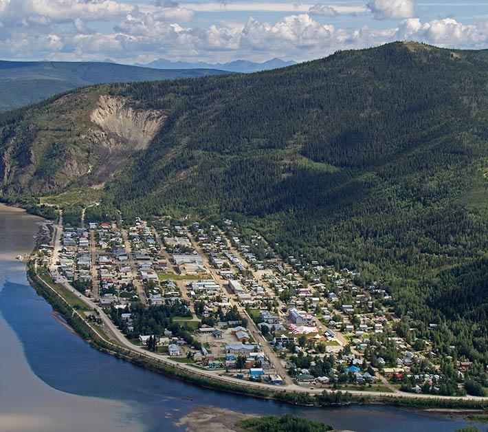 Dawson City, ville témoin de la ruée vers l'or du Klondike. Dawson10