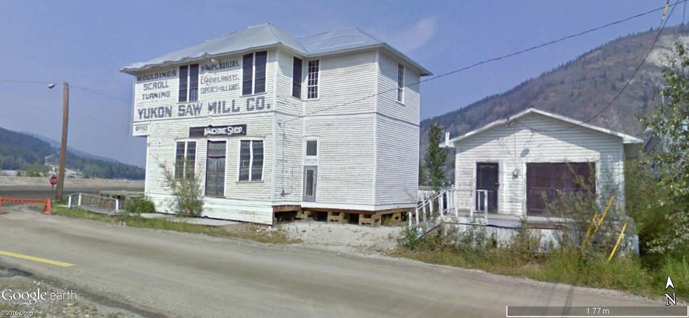 Dawson City, ville témoin de la ruée vers l'or du Klondike. Dawson26