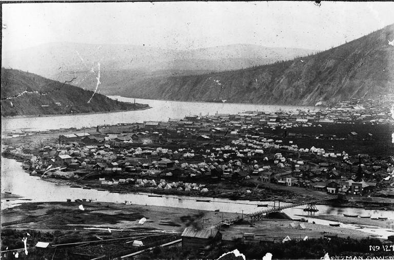 Dawson City, ville témoin de la ruée vers l'or du Klondike. Dawson45