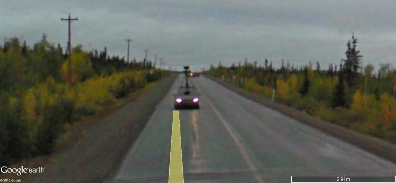 STREET view : Deux Google car qui se suivent, Territoires du Nord Ouest, CANADA Dd13