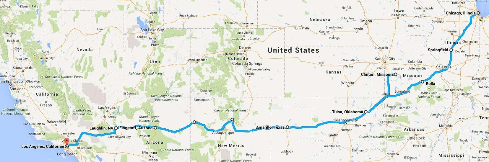 Route 66 : parcours d'un mythe américain. Route_10