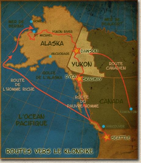 Dawson City, ville témoin de la ruée vers l'or du Klondike. Routes10