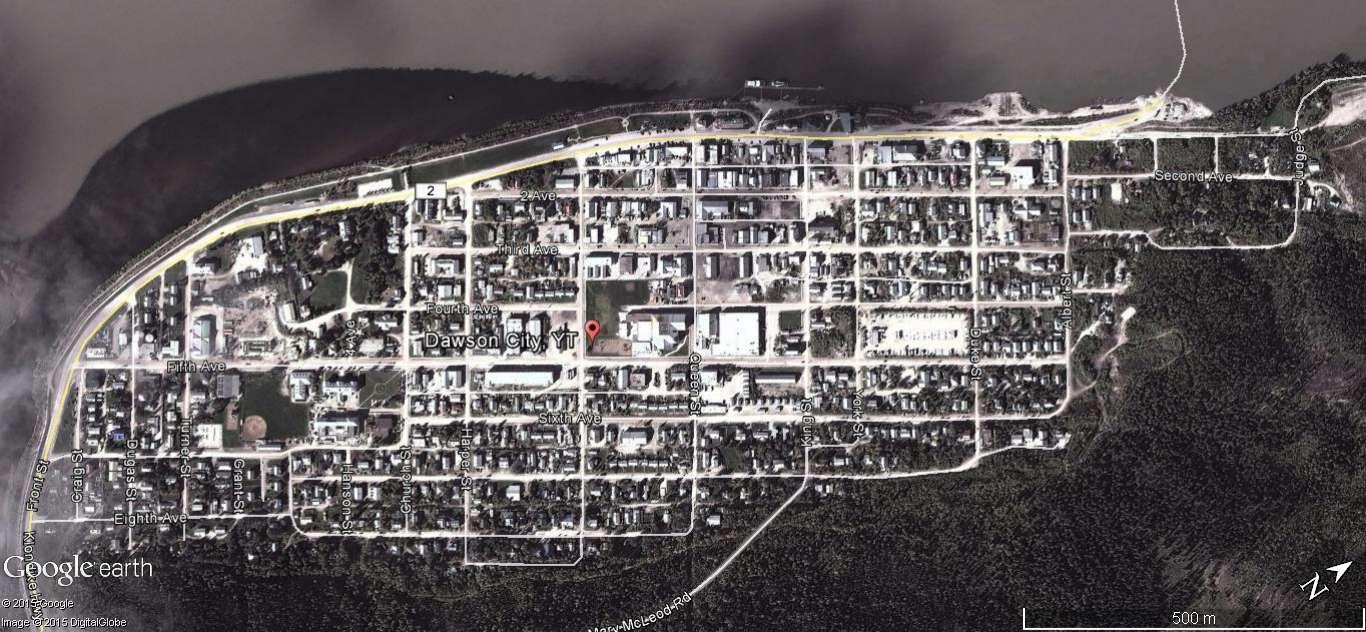 Dawson City, ville témoin de la ruée vers l'or du Klondike. X10