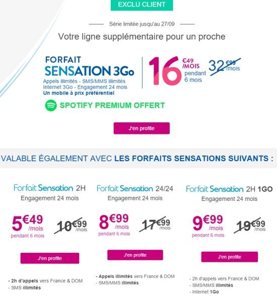 Le Forfait Sensation jusqu'à 3Go à moitié prix, va bientôt prendre fin Promos10