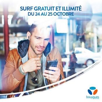 Nouveau week-end data illimitée le 24 et 25 octobre chez Bouygues Telecom We4g10