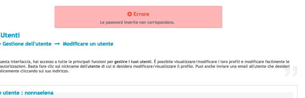 problemi aggiornamento profilo Scherm45