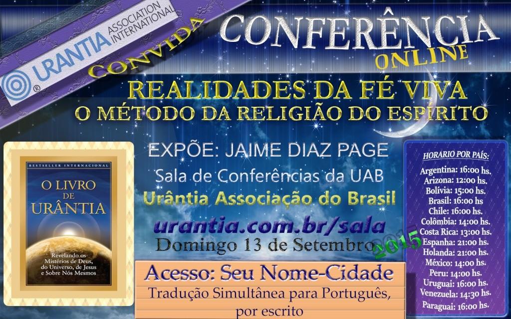 Conferência Online sobre Realidades da fè Viva Poster10