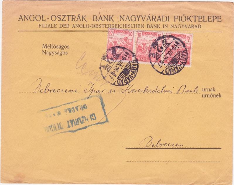 Briefe / Poststücke österreichischer Banken 1919ju10