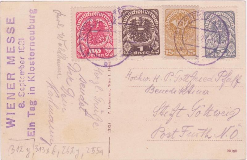 Republik Deutsch-Österreich  -  Bedarfspost Dez. 1918 - Dez. 1921 192010