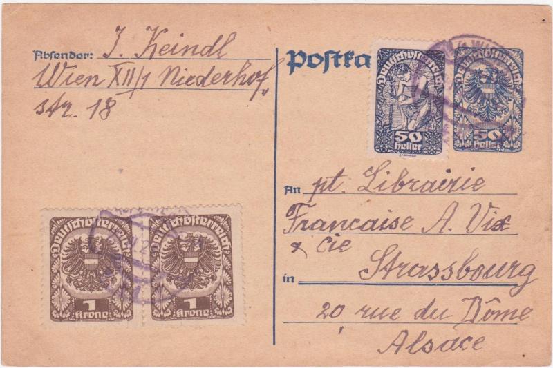 """Postkartenserie """"Neuer Wappenadler"""", Inschrift """"Deutschösterreich"""" - Seite 2 1921ap10"""