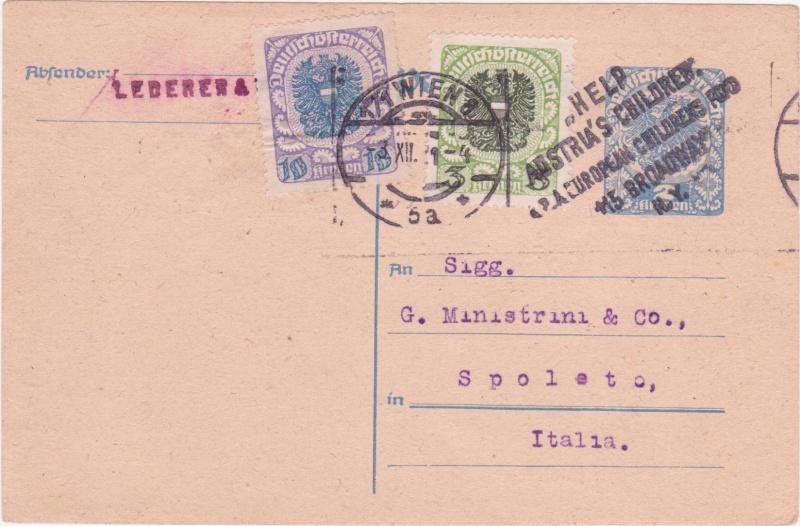 """Postkartenserie """"Neuer Wappenadler"""", Inschrift """"Deutschösterreich"""" - Seite 3 1921xi10"""