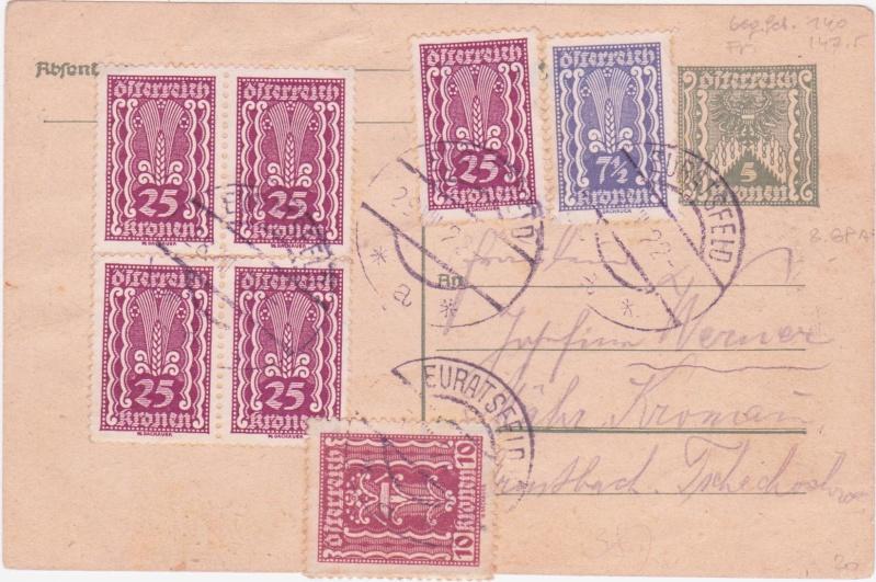 """Postkartenserie """"Quadratischer Wertstempel - Wertziffer im Dreieck"""" 1922-24 - Seite 4 1922au10"""