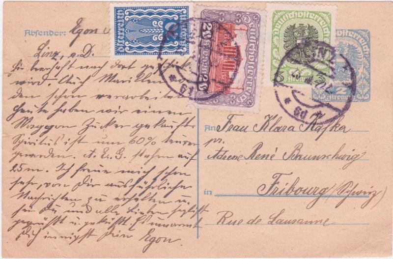 """Postkartenserie """"Neuer Wappenadler"""", Inschrift """"Deutschösterreich"""" - Seite 3 1922vi10"""