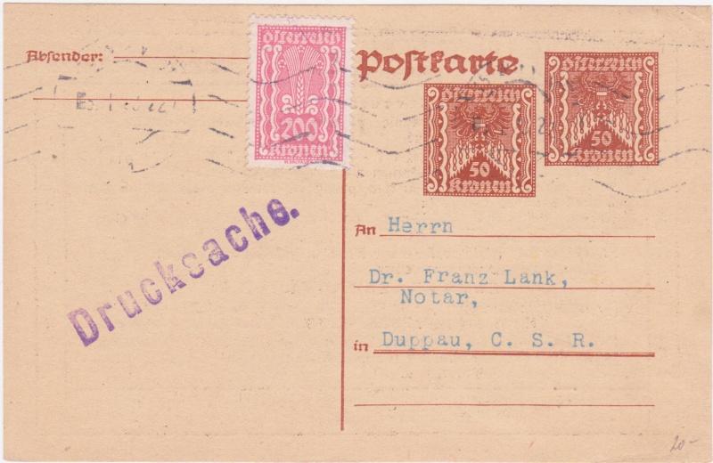 """Postkartenserie """"Quadratischer Wertstempel - Wertziffer im Dreieck"""" 1922-24 - Seite 4 1923i10"""