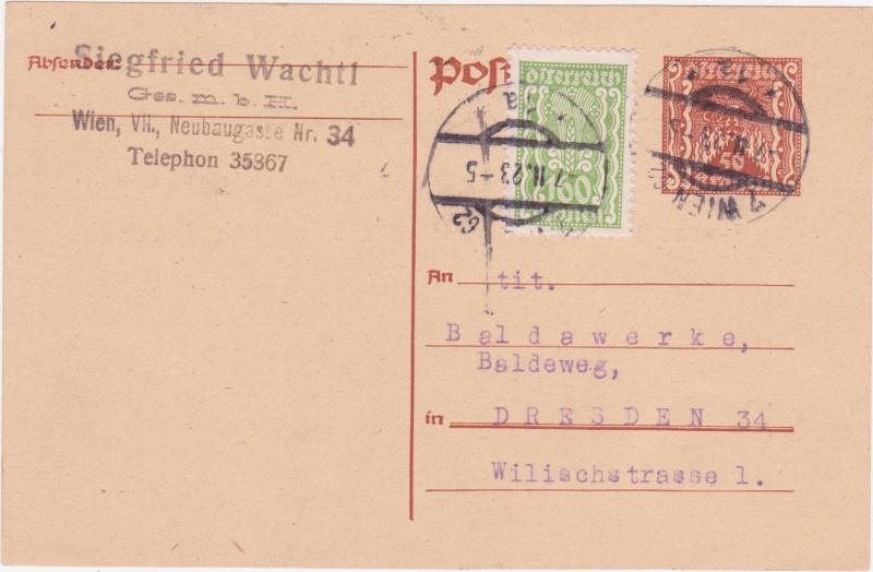 """Postkartenserie """"Quadratischer Wertstempel - Wertziffer im Dreieck"""" 1922-24 - Seite 4 1923ii10"""