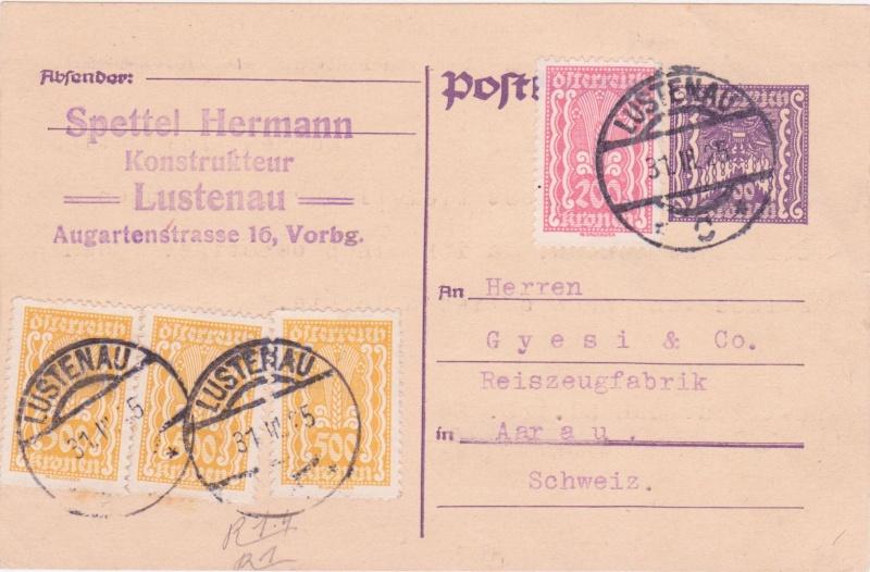 """Postkartenserie """"Quadratischer Wertstempel - Wertziffer im Dreieck"""" 1922-24 - Seite 4 1925ii10"""