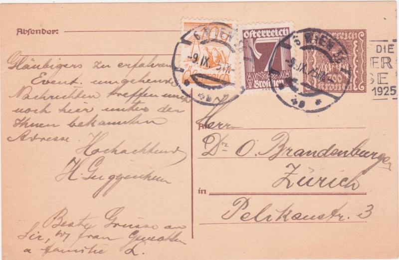 """Postkartenserie """"Quadratischer Wertstempel - Wertziffer im Dreieck"""" 1922-24 - Seite 4 1925ix10"""