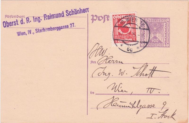 """Postkartenserie """"Quadratischer Wertstempel - Wertziffer im Dreieck"""" 1922-24 - Seite 4 1925xi10"""
