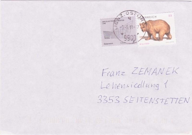 1. Mai 2011 Ersttag von 15 Briefmarken in Österreich !!! 2011v10