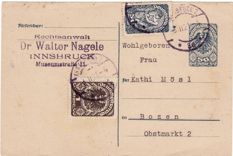 """Postkartenserie """"Neuer Wappenadler"""", Inschrift """"Deutschösterreich"""" Img10"""