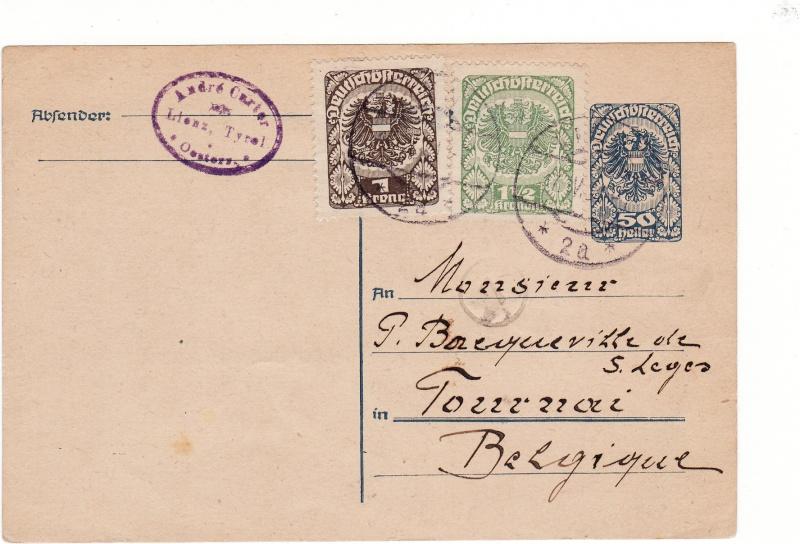 """Postkartenserie """"Neuer Wappenadler"""", Inschrift """"Deutschösterreich"""" Img12"""