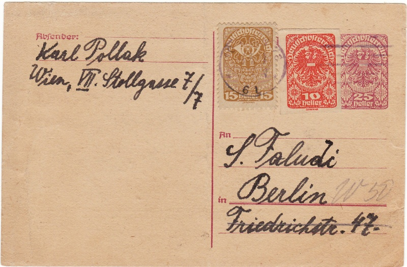 """Postkartenserie """"Neuer Wappenadler"""", Inschrift """"Deutschösterreich"""" Img13"""
