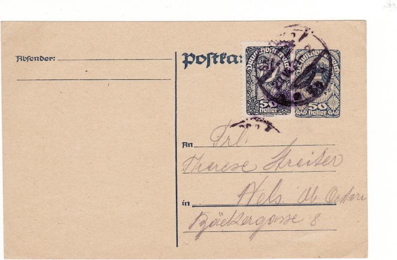 """Postkartenserie """"Neuer Wappenadler"""", Inschrift """"Deutschösterreich"""" Img21"""