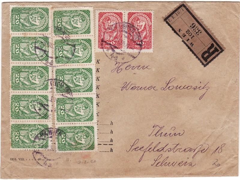 Republik Deutsch-Österreich  -  Bedarfspost Dez. 1918 - Dez. 1921 Img22