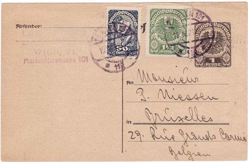 """Postkartenserie """"Neuer Wappenadler"""", Inschrift """"Deutschösterreich"""" - Seite 2 Img27"""