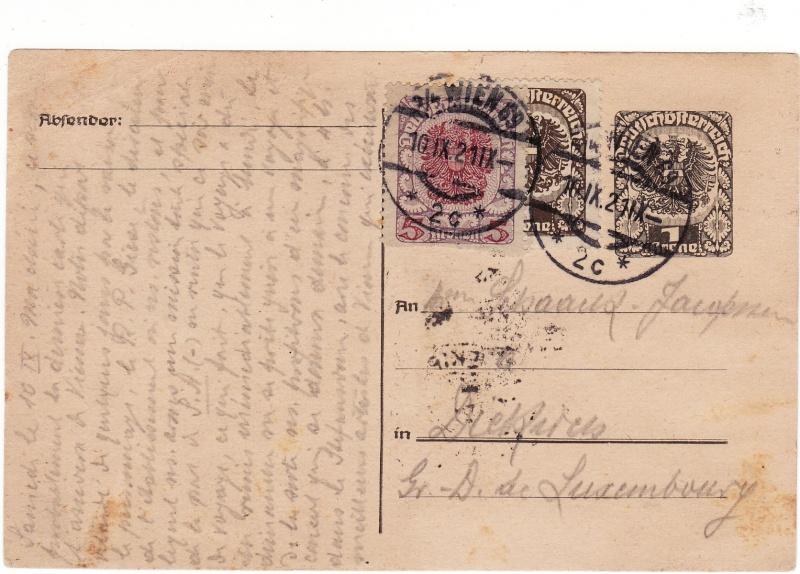 """Postkartenserie """"Neuer Wappenadler"""", Inschrift """"Deutschösterreich"""" - Seite 2 Img32"""