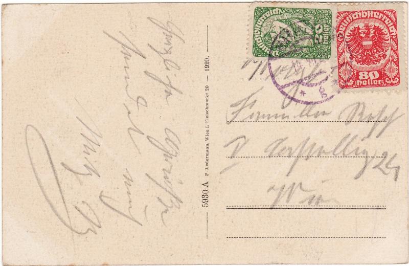 Republik Deutsch-Österreich  -  Bedarfspost Dez. 1918 - Dez. 1921 Img39