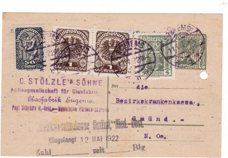 """Postkartenserie """"Quadratischer Wertstempel - Wertziffer im Dreieck"""" 1922-24 Img40"""