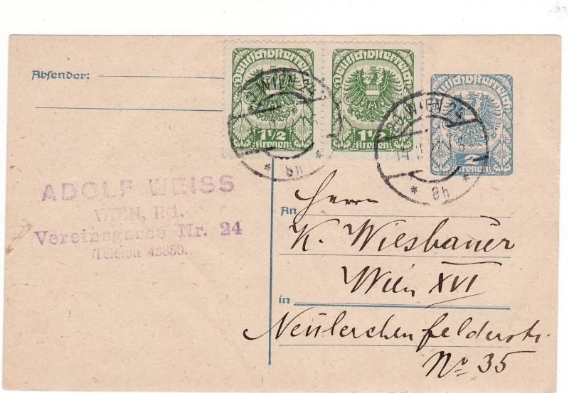 """Postkartenserie """"Neuer Wappenadler"""", Inschrift """"Deutschösterreich"""" - Seite 2 Img43"""