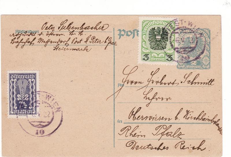 """Postkartenserie """"Neuer Wappenadler"""", Inschrift """"Deutschösterreich"""" - Seite 2 Img44"""