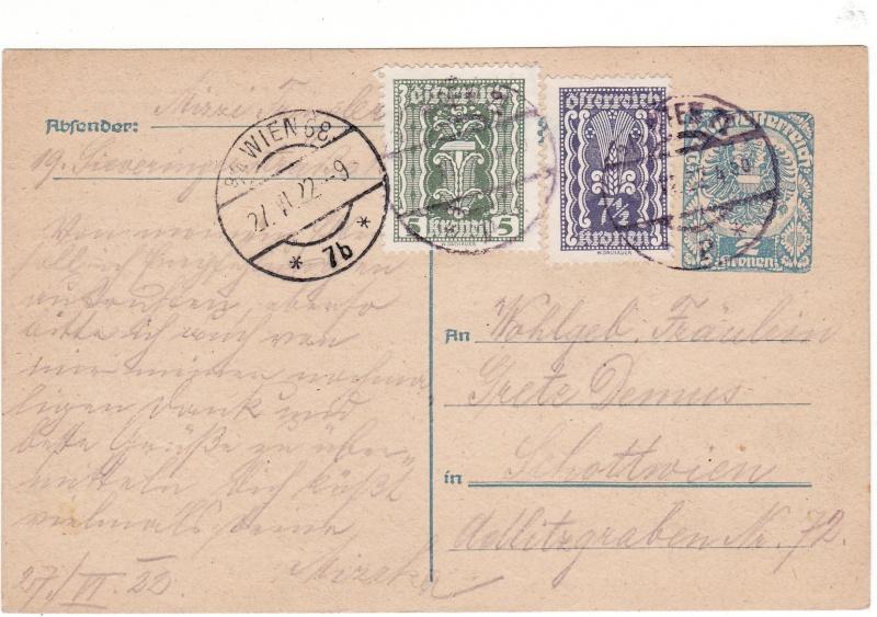 """Postkartenserie """"Neuer Wappenadler"""", Inschrift """"Deutschösterreich"""" - Seite 2 Img45"""