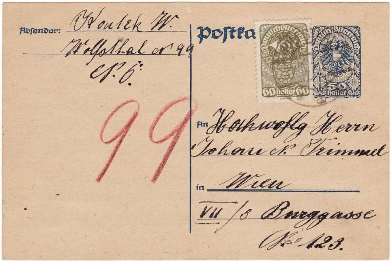 """Postkartenserie """"Neuer Wappenadler"""", Inschrift """"Deutschösterreich"""" Img47"""