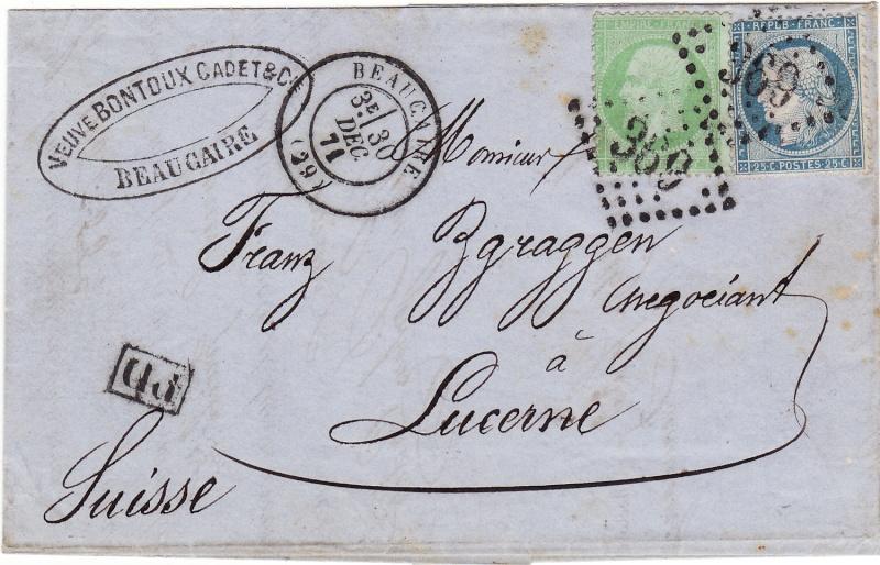 Frankreich  -  Poststücke mit Marken Type Napoleon Img_0010