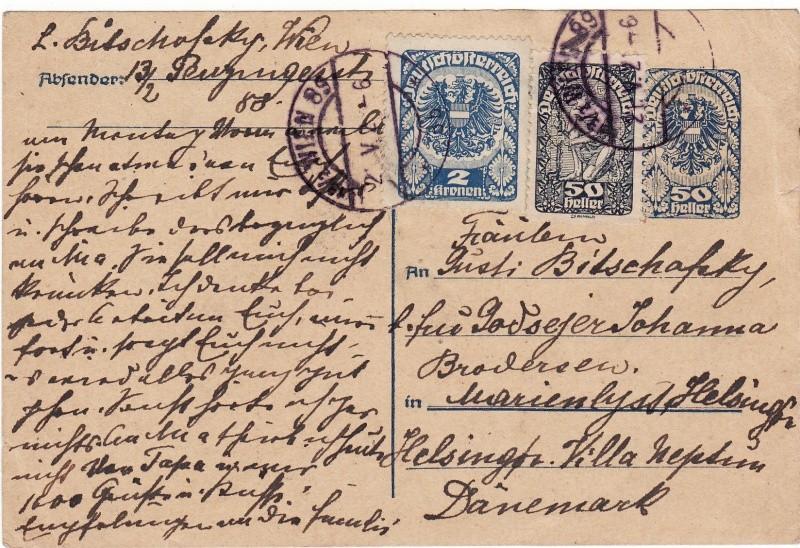 """Postkartenserie """"Neuer Wappenadler"""", Inschrift """"Deutschösterreich"""" Img_0015"""