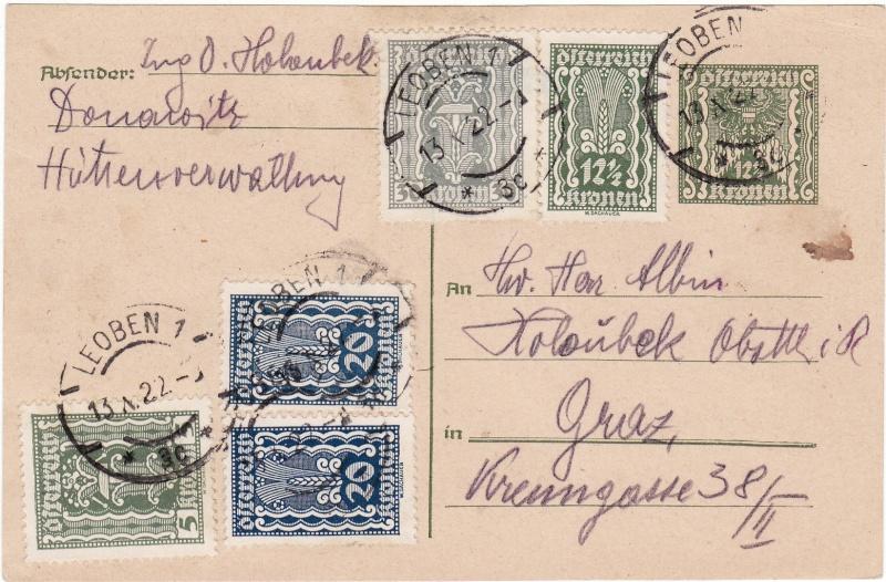 """Postkartenserie """"Quadratischer Wertstempel - Wertziffer im Dreieck"""" 1922-24 Img_0030"""