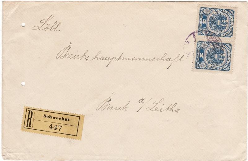 Republik Deutsch-Österreich  -  Bedarfspost Dez. 1918 - Dez. 1921 Img_0034