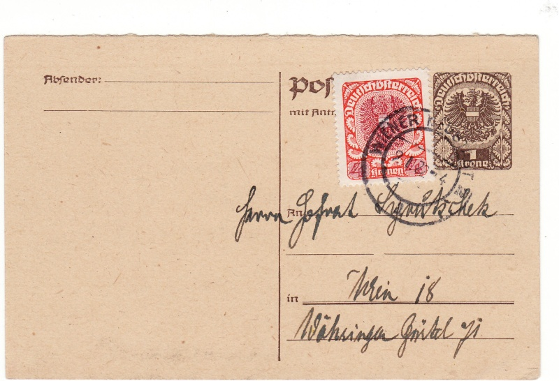 """Postkartenserie """"Neuer Wappenadler"""", Inschrift """"Deutschösterreich"""" - Seite 2 Img_0038"""