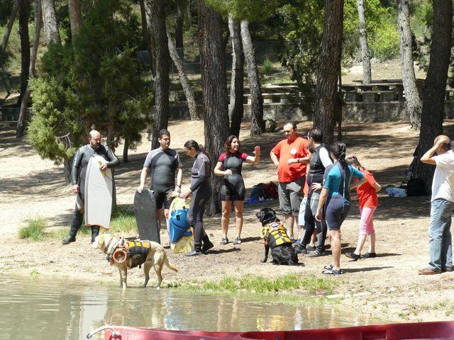Entrenamiento en Bolarque y grabacion de La Sexta Noticias a SOSCAN (14 mayo 2011) 07_pla10