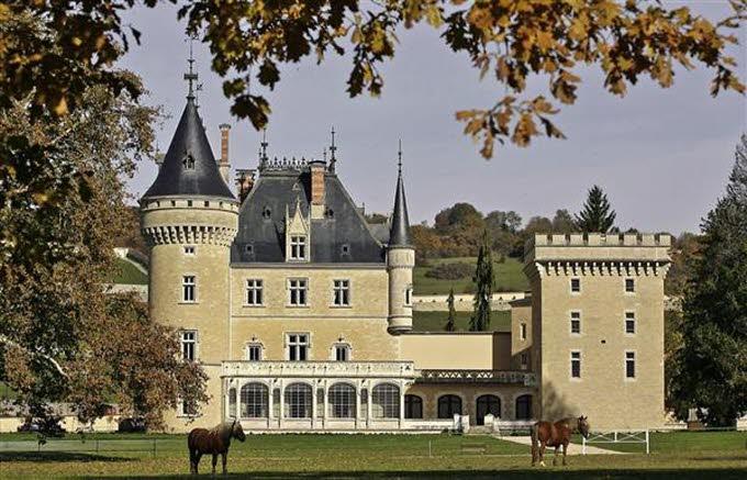 un château - ajonc- 30 octobre trouvé par Martine  Chatea13