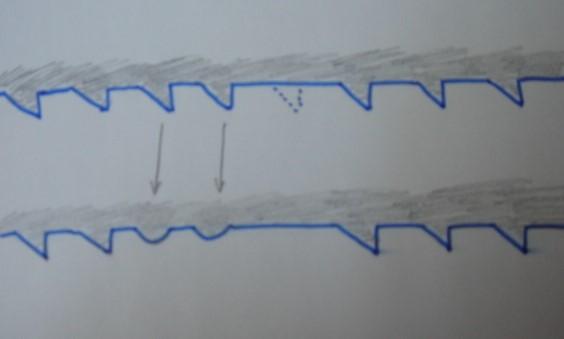 comment sauver une lame de scie à ruban avec une dent cassée Dsc00320