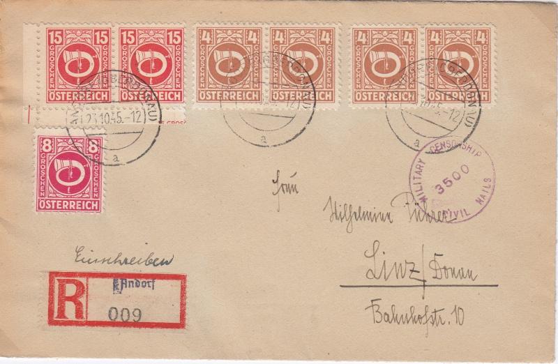 Posthornzeichnung  -  ANK 697-713  -  Belege - Seite 2 Img14