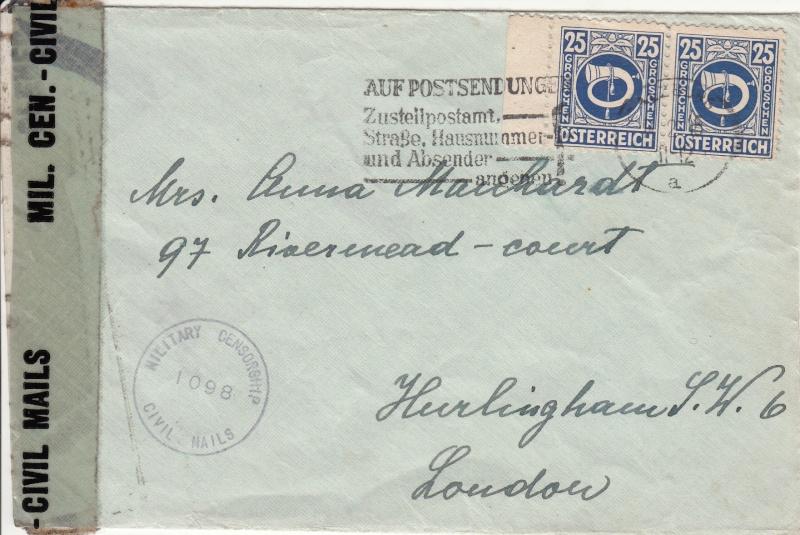 Posthornzeichnung  -  ANK 697-713  -  Belege - Seite 2 Img29