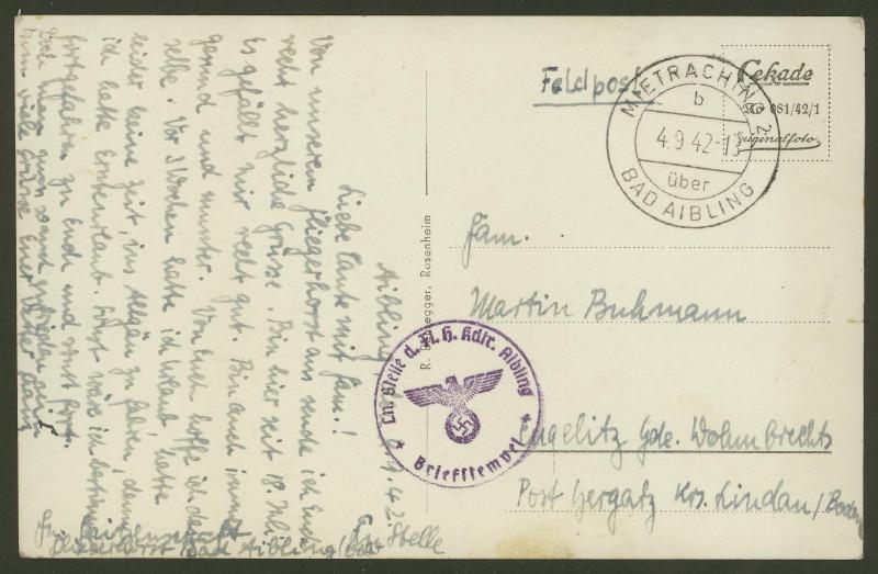 1945 - Deutschland  -  Landpoststempel (Poststellenstempel) Mietra10